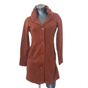 PrAna Cotton Burton Up Jacket Pea Coat